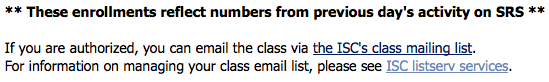 [screen capture of Courses inTouch]
