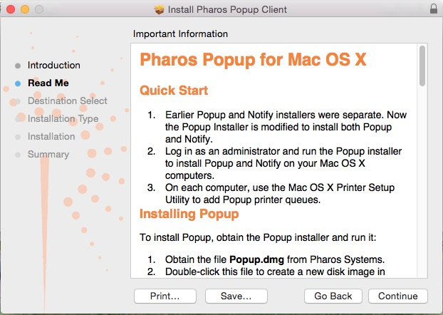 Pharos Popup for OS X