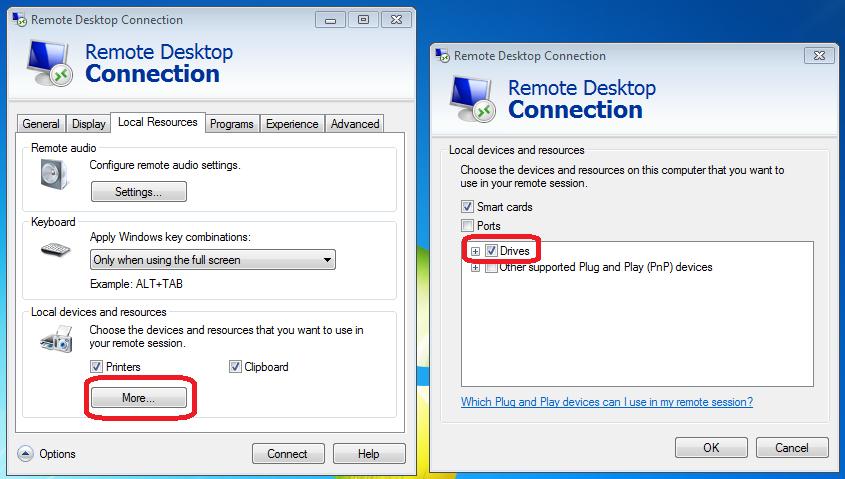 Windows Remote Desktop Arts Sciences Computing