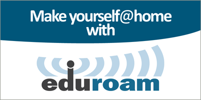 Make yourself at home with Eduroam!