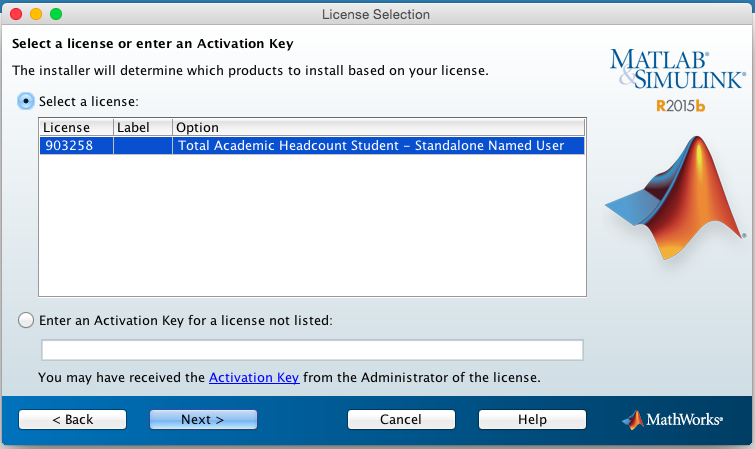 Matlab activation key student