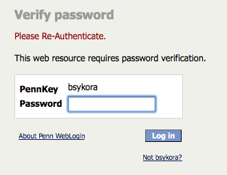 [Use PennKey password to log in]