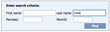[The box at the top of the form has blanks for name, PennName, and PennID.]